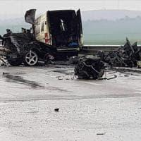 Potenza, incidente Bradanica: due delle vittime morte carbonizzate