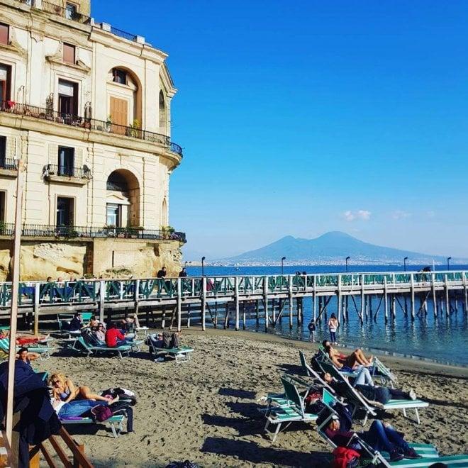 Napoli, quando a gennaio arriva l'estate