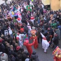 Al Carnevale di Montemarano con il treno storico