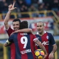 Benevento travolto dal Bologna (3-0), brutto stop nella rincorsa salvezza