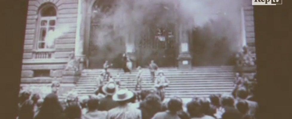 """Memoria, il ricercatore: """"In una bobina il video inedito dell'incendio nazista alla Federico II e dell'omicidio del marinaio Mansi"""""""