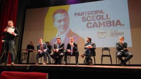 """Politiche 2018, Di Maio a Potenza: """"La Basilicata andava difesa a Roma e in Europa, invece è stata l'occasione per rinnovare le poltrone"""""""