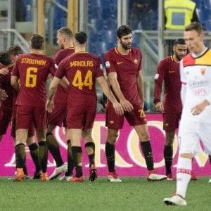 Il Benevento illude, poi crolla a Roma