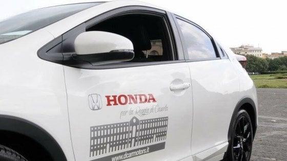 Reggia di Caserta, una Honda come regalo di San Valentino
