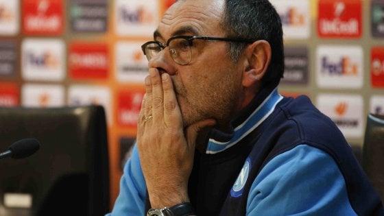 """Europa League Napoli-Lipsia, Sarri: """"San Paolo deserto?  I tifosi hanno scelto campionato"""""""