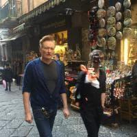 """Conan O'Brien a Napoli: """"Che vitalità c'è in questa città, mi ricorda quella di New York"""""""