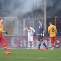 Calcio: petardo in campo a Benevento, denunciato tifoso