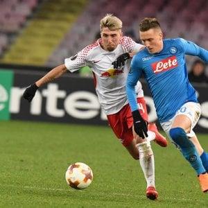 """Napoli, Sarri carica l'ambiente alla  vigilia della sfida con il Lipsia: """"All'andata noi cialtroni ma adesso..."""""""