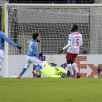 Il Napoli sfiora l'impresa in Germania: vince 2-0 a Lipsia, ma non basta ad evitare l'eliminazione