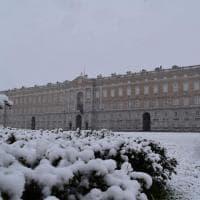 Neve sulla Reggia di Caserta e sulla Reggia di Carditello
