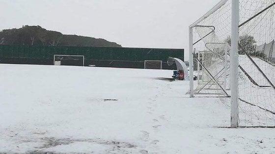 Allenamento annullato causa neve per il Napoli