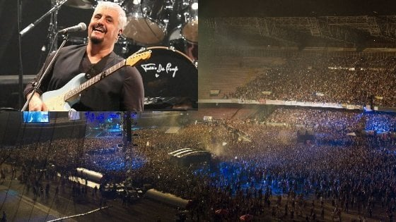 Baglioni, Eros & friends al San Paolo per ricordare Pino Daniele