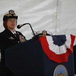 """Sesta Flotta, una donna al comando, l'emozione di Lisa Franchetti: """"I miei nonni erano italiani, qui per garantire pace e sicurezza"""""""