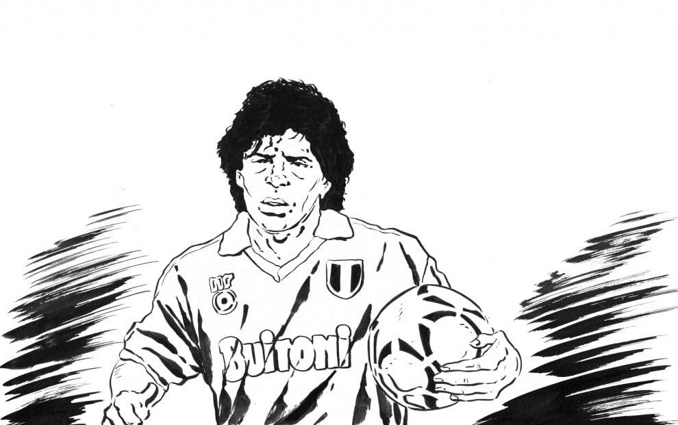 Inter-Napoli, una storia di campioni in sei disegni