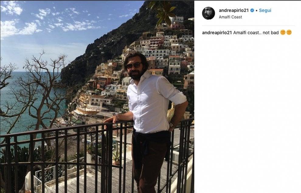 """Andrea Pirlo in vacanza tra Positano e Amalfi: """"Not so bad"""""""