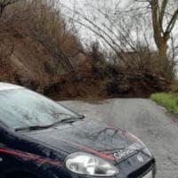 Maltempo: frana sulla statale per Montevergine, dramma sfiorato in Irpinia