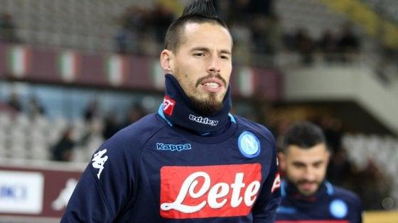 Napoli: Hamsik cè, in campo nel secondo tempo