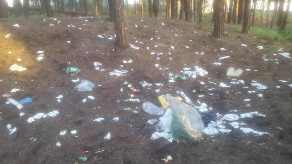 La Pasquetta degli incivili nel Parco del Vesuvio. Pinete invase dai rifiuti