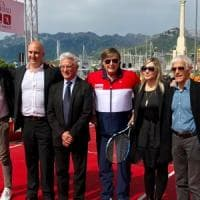 Panatta, Yuri Chechi, Lucchetta e Graziani a Salerno:
