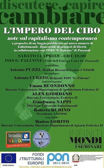 """""""L'impero del cibo, note sul capitalismo contemporaneo"""", convegno a Pozzuoli"""