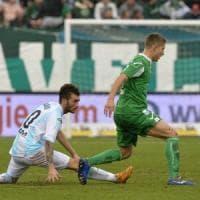L'Avellino prima s'illude poi rischia il ko sul campo dell'Entella (1-1)