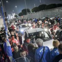 Diecimila per il Napoli all'aeroporto di Capodichino, festa fino all'alba