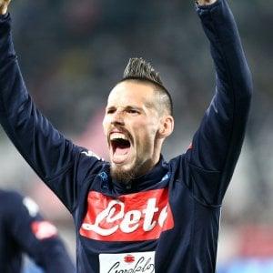 """Hamsik: """"Godiamo per aver battuto la Juve ma ora vogliamo fare il pieno"""""""