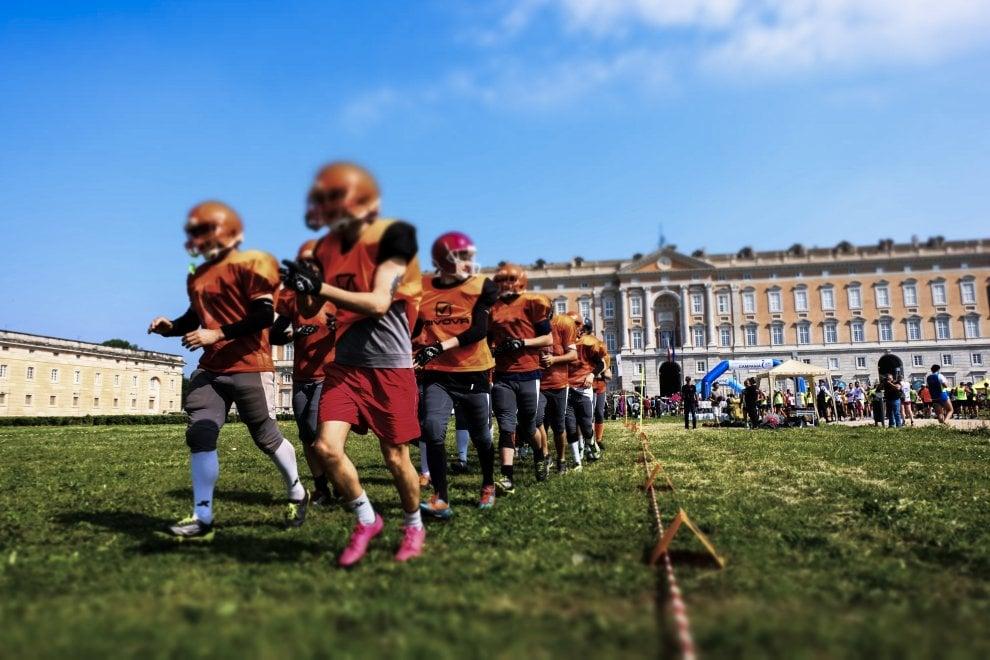 Si gioca a football americano alla Reggia di Caserta