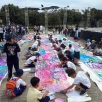 Il Giorno del gioco a San Giorgio a Cremano: il parco diventa una tela per 130 bambini