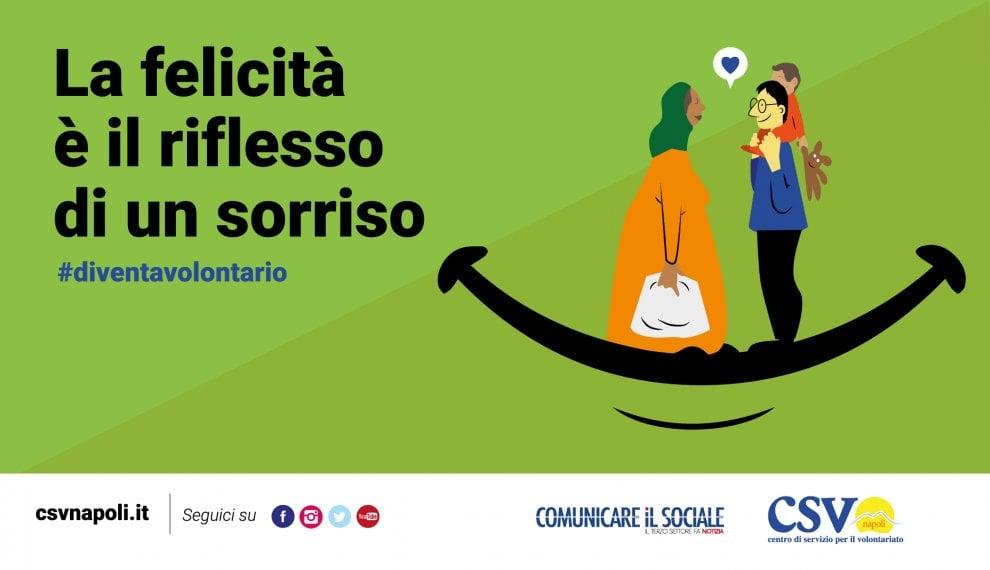 Tutti volontari e con il sorriso: #diventavolontario è la nuova campagna del Csv di Napoli