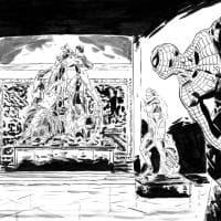 Spider - man al Museo Archeologico, tributo per il numero Usa 800
