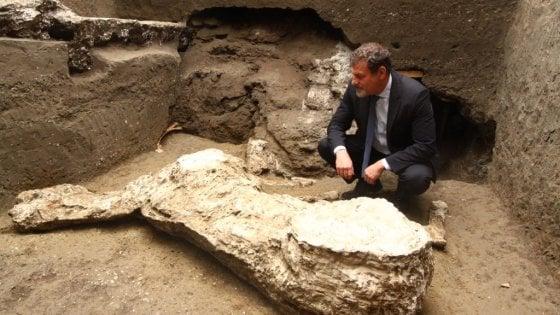 Pompei, scoperto un terzo cavallo