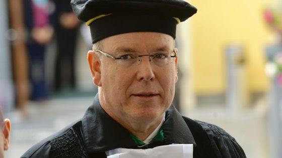 Laurea honoris causa dell'Università degli studi di Napoli Parthenope al principe Alberto di Monaco