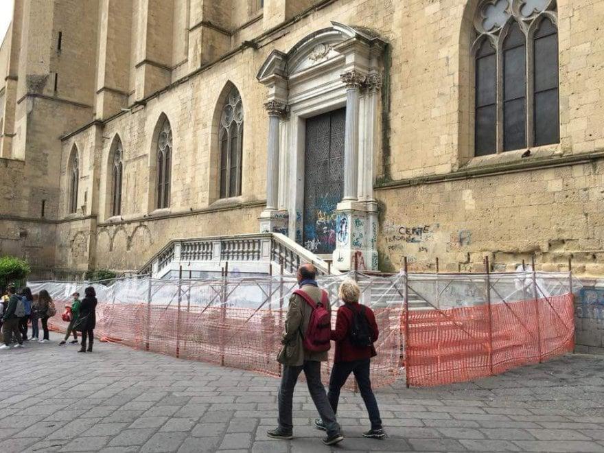 Santa Chiara, al via i lavori di restauro dello scalone