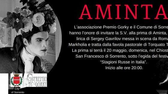 """Al Chiostro di San Francesco a Sorrento ecco l' """"Aminta"""""""