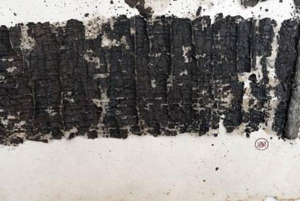 Ercolano, ecco il papiro con l'opera ritrovata di Seneca padre