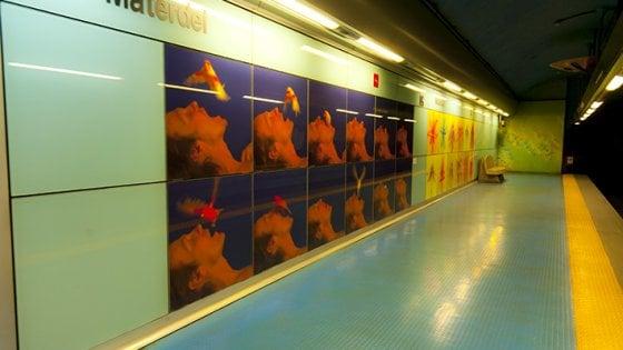 Metro linea 1, via i lavori per la seconda uscita della stazione Materdei