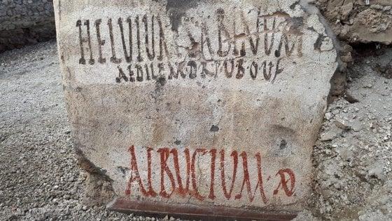 Pompei: scoperte nuove iscrizioni elettorali negli scavi nella Regio V
