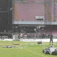 Ecco le condizioni del San Paolo dopo il concerto per Pino Daniele