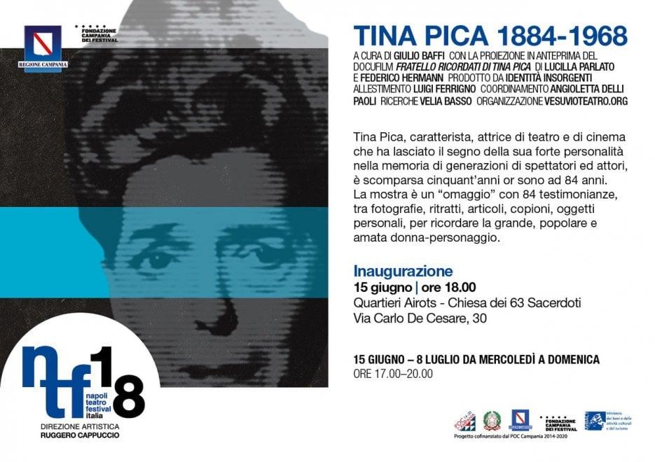 Il Napoli Teatro Festival ricorda Tina Pica con una mostra a cura di Giulio Baffi