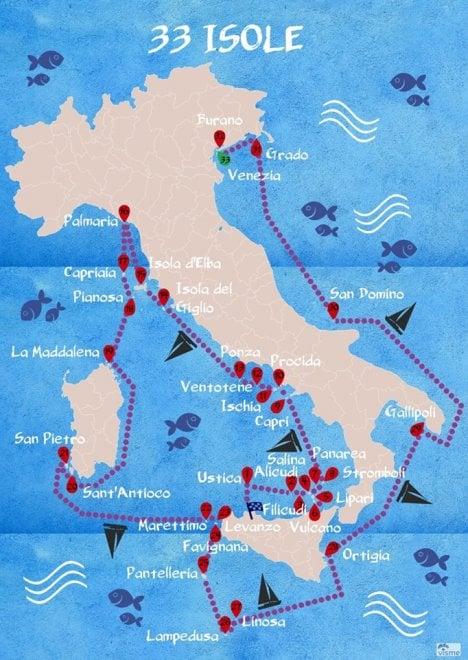 """33 isole, il viaggio del velista che """"scopre"""" il Mediterraneo"""