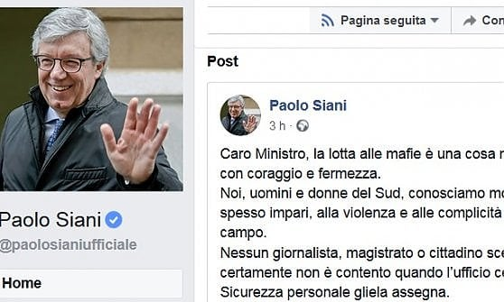 """Paolo Siani a Salvini: """"Saviano rischia la vita, la lotta alle mafie è una cosa seria"""""""