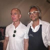 Cena a Napoli per il fondatore di Amazon, Jeff Bezos