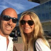 Vip a Marina di Stabia, l'attrice Gwyneth Paltrow in vacanza nel porto turistico