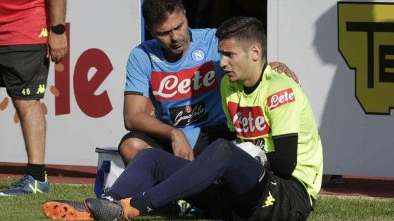 Napoli, infortunio a Dimaro: frattura per Meret