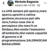 Salerno, Michele Ragosta attacca l'amministrazione: «Qui non c'è un sindaco»