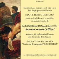 Un quadro inedito di Luca Giordano entra a far parte della collezione del Museo Correale a Sorrento