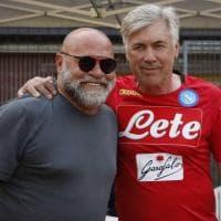 Dimaro, l'abbraccio tra Ancelotti e Cosmi