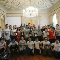 Judo, de Magistris premia i ragazzi della palestra Maddaloni