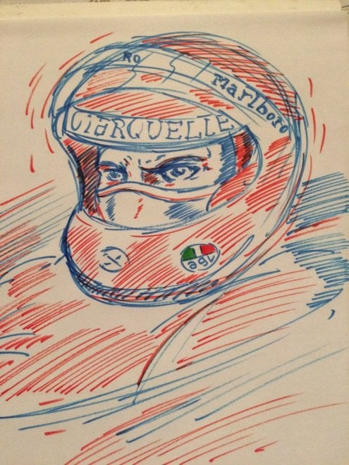"""""""Forza Niki"""", l'omaggio di Lorenzo Ruggiero a Lauda, campione di Formula 1"""
